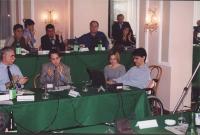 Comitato di Coordinamento dei Radicali. In prima fila: Giovanni Cominelli, Andrea Costantini, Luca Coscioni con la moglie Maria Antonietta. Dietro, si