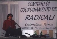 Comitato di coordinamento dei Radicali. Marco Cappato.