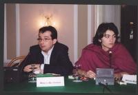 Comitato di coordinamento dei Radicali. Marco Beltrandi e Maura Bonifazi.