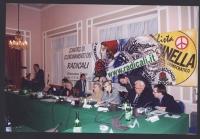 Comitato di coordinamento dei Radicali. Da sinistra: Danilo Quinto, Maurizio Turco, Emma Bonino, Marco Taradash, Sergio Stanzani, Rita Bernardini, Rob