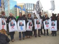 Manifestazione per una soluzione politica del conflitto in Cecenia, e per la llibertà per Akhmet Zakaiev (vice-primo ministro del governo legittimo de