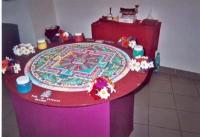 Un mandala tibetano (creato in occasione della Quinzaine du Tibet).