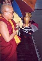 Cerimonia in occasione della Quinzaine du Tibet, organizzata dall'associazione Drôme-Ardèche.