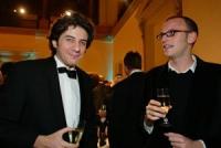 """Marco Cappato, eletto """"europeo dell'anno"""", da un sondaggio del giornale """"European Voice"""". A destra: Ottavio Marzocchi. Altre digitali della cerimonia."""