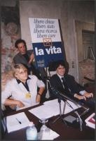 """Giornata anticlericale. Presentazione del libro di Luca Coscioni, """"Il maratoneta"""" a palazzo Valdina. Al tavolo: Rita Bernardini e Luca Coscioni."""