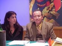 Primo Congresso dell'Associazione Luca Coscioni, per la libertà di ricerca scientifica. A destra: Raphael Olmos Sanchez, presidente della Federazione
