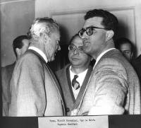 Nicolò Carandini, Ugo La Malfa, Eugenio Scalfari.