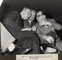 Consiglio Nazionale del Partito Radicale (Bruno Villabruna, Nicolò Carandini, Mario Pannunzio).