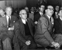 Da sinistra: Nicolò Carandini, Leo Valiani, Mario Pannunzio.