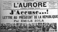"""""""Riproduzione del giornale """"""""L'Aurore"""""""" con il famoso """"""""J'accuse! Lettre au président de la république par Emile Zola"""""""" (BN)"""""""