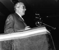 Leo Valiani, al Primo Congresso Nazionale del PR.
