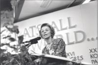 36° congresso PR II sessione. Emma Bonino parla dalla tribuna. (BN) ottima