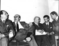 Mario Pannunzio, Francesco Oneto, Arrigo Olivetti, ???, ???