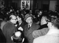 Al centro, con il cappello: Ferruccio Parri.