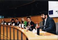 "Conferenza: ""South-East Asia - Democracy Denied, Freedoms suppresses"". Al tavolo, da sinistra: Vo Van Ai, Aung Ko, Vanida Thephsouvanh, Olivier Dupuis"