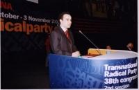 38° Congresso del PR, II sessione. Amir Inrahim, figlio di Saad Eddin Ibrahim (dissidente egiziano).