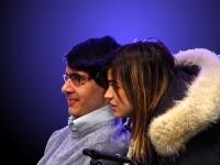 Luca Coscioni e la sua assistente (Luisa Delogu).