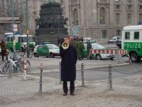 Olivier Dupuis alla manifestazione contro il genocidio in Cecenia, e per l'apertura di negoziati fra autorità russe e cecene.