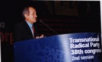 38° Congresso del PR, II sessione. Alexander Carlili, segretario generale del Partito Repubblicano Albanese.