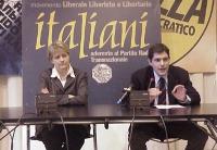 Conferenza stampa, con Rita Bernardini e Daniele Capezzone, sull'azione nonviolenta radicale per la discussione in Parlamento di un provvedimento di i