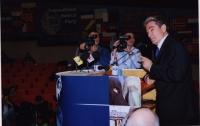 Sali Berisha alla tribuna del 38° Congresso del PR, II sessione.