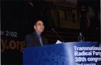38° Congresso, II sessione. Kok Ksor, presidente della Montagnards Foundation.