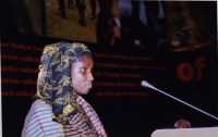 "38° Congresso del PR, II sessione. Khady Koita, President of the ""European Network against FGM""."