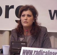Safia Taleb Al Souhail (giornalista, membro del Comitato di Coordinamento dell'opposizione democratica irachena) partecipa alla conferenza stampa pres