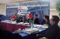 Comitato dei Radicali Italiani, all'hotel Ergife. Da sinistra: Danilo Quinto, Marco Pannella, Rita Bernardini, Daniele Capezzone, Benedetto Della Vedo