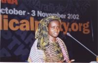"38° Congresso, II sessione. Khady Koita, Presidente dell' ""European Network against FGM""."