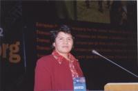 "38° Congressi del PR, II sessione. Shoukria Haidar, President of the ""NEGAR"" Association."