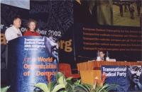 38° Congresso, II sessione. Alla tribuna: Wei Jingsheng e Marie Holtzman.
