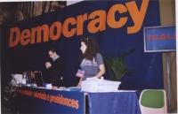38° Congresso del PR, II sessione. Tavolo di segreteria, con Stefano Mazzocchi e Antonella Casu.