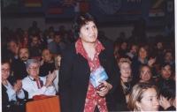 """38° Congresso del PR, II sessione. Shoukria Haidar, presidente dell'associazione """"NEGAR""""."""