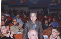 38° Congresso, II sessione. In piedi: Vo Van Ai. In primo piano: a sinistra: Penelope Faulkner; al centro: Sergio D'Elia; a destra: Silvio Viale.