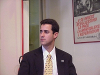 Lorenzo Toro (direttore di Cuban Democratic Directory) partecipa alla conferenza stampa di esuli cubani presso la sede del PR (per presentare una mara
