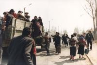 Gente in fuga (nel periodo di guerra).