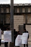 Manifestazione radicale davanti all'ambasciata inglese a Roma per protestare contro il progetto di legge inglese di discriminazione nei confronti  deg