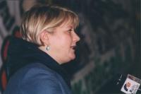 Rita Bernardini, al microfono di Radio Radicale.