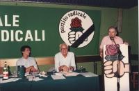 Assemblea generale degli iscritti radicali. Giovanni Negri, Marco Pannella ed Enzo Tortora.