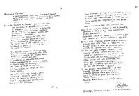 Lettera autografa di Enzo Tortora, nella quale egli comunica al presidente del Parlamento Europeo, le proprie dimissioni da eurodeputato. (Due facciat