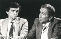 Dibattito televisivo con Giovanni Negri, Enzo Tortora (nelle foto), e Toni Negri.