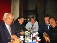 Marco Pannella, Matteo Angioli, Martin Schultes, David Carretta, Antonio Cerrone (componenti di una delegazione radicale in visita in Israele) al tavo