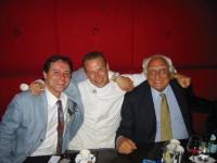 Sergio Rovasio, lo chef Gadi e Marco Pannella.