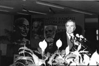 Enzo Tortora alla tribuna del 32° Congresso.