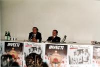 Assemblea sulla giustizia con Enzo Tortora e Alessandro Tessari.