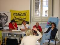 Conferenza stampa, in occasione del gay pride. Al tavolo, da sinistra: Marco Cappato, Sergio Rovasio, Carlo Manera, Giuseppe Simone  (Associazione rad