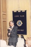Enzo Tortora al Lions Club.