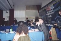 Comitato Nazionale dei Radicali Italiani all'hotel Ergife. Si vedono: Bendetto Della Vedova, Marco Cappato, Daniele Capezzone (alla tribuna), Antonell