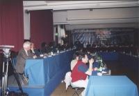 Riunione del Comitato Nazionale all'hotel Ergife. Fra gli altri: Valerio Fioravanti (in primo piano nella fila bassa).